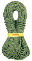 Tendon Dynamic Single Climbing Rope - UIAA/CE Certified - Hattrick 9.7mm SBS Braided Rope for Mountaineering - Rock Climbing Cord - for Climbing, Rappelling & Hiking - (Green/Blue, 70 Meters)