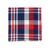 C&F Home Harbor Red White and Blue Plaid Woven Cotton Patriotic 4th of July Memorial Day Labor Day Americana Liberty Single Napkin 18x18 Napkin Harbor Red/Blue Plaid