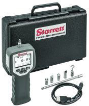 Starrett DFG-50 Digital Force Gage, 50 lbf Capacity, 0.2% Full Scale Accuracy, RS232 and USB Communications, Grey
