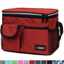 OPUX Insulated Lunch Bag, Durable Lunch Box for Adult Men Women | Medium Leakproof Cooler Tote Bag for Work School | Reusable Lunch Pail with Shoulder Strap, Pocket for Kid Boy Girl | Fits 8 Cans, Red