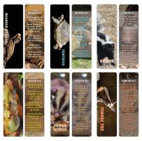 Creanoso Exotic Pet Animal Bookmarker Cards (30-Pack) – Stocking Stuffers Gift for Men, Women, Adult, Teens, Boys & Girls – Party Favors Supplies – Employee Reward Incentives – Book Mark Clippers