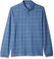 Van Heusen Men's Flex Long Sleeve Jaspe Windowpane Polo Shirt (Discontinued by)