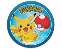 American Greetings Pokemon Party Supplies Disposable Paper Dessert Plates (40-Count)