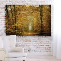 Renditions Gallery Landscape Pictures Artwork Giclee Print Canvas Art Ready to Hang for Home Wall Decor, 12x18, Soon Fall Leaves