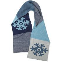 Life is Good Women's Scarf Optimistic Snowfall Gloves, Darkest Blue,