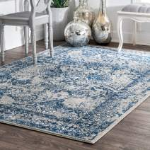 "nuLOOM Odell Oriental Vintage Area Rug, 5' x 7' 5"", Light Blue"