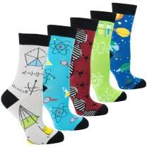 Socks n Socks Women's Girls 5pk Novelty Funny Crazy Cute Fun Crew Socks Gift Box