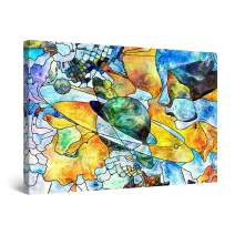"""Startonight Canvas Wall Art Abstract - Artistic Vision on The Earth, Planets Painting - Artwork Print for Bedroom 24"""" x 36"""""""