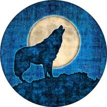 Cool Wolf Howl Art Fit for Jeep,Trailer 4 SUV and Many Vehicle Spare Tire Cover RV Waterproof Universal Wheel Tire Cover Protector