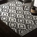 Amazon Brand – Rivet Black and Ivory Global Print Cotton Area Rug, 8 x 11 Foot
