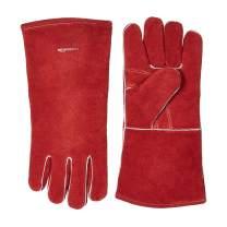 AmazonBasics Welding Gloves - Red, 6-Pack