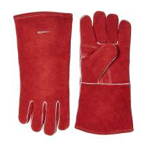 AmazonBasics Welding Gloves - Red, 6-Pack