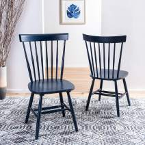Safavieh Home Parker Navy Blue Spindle Dining Chair, Set of 2