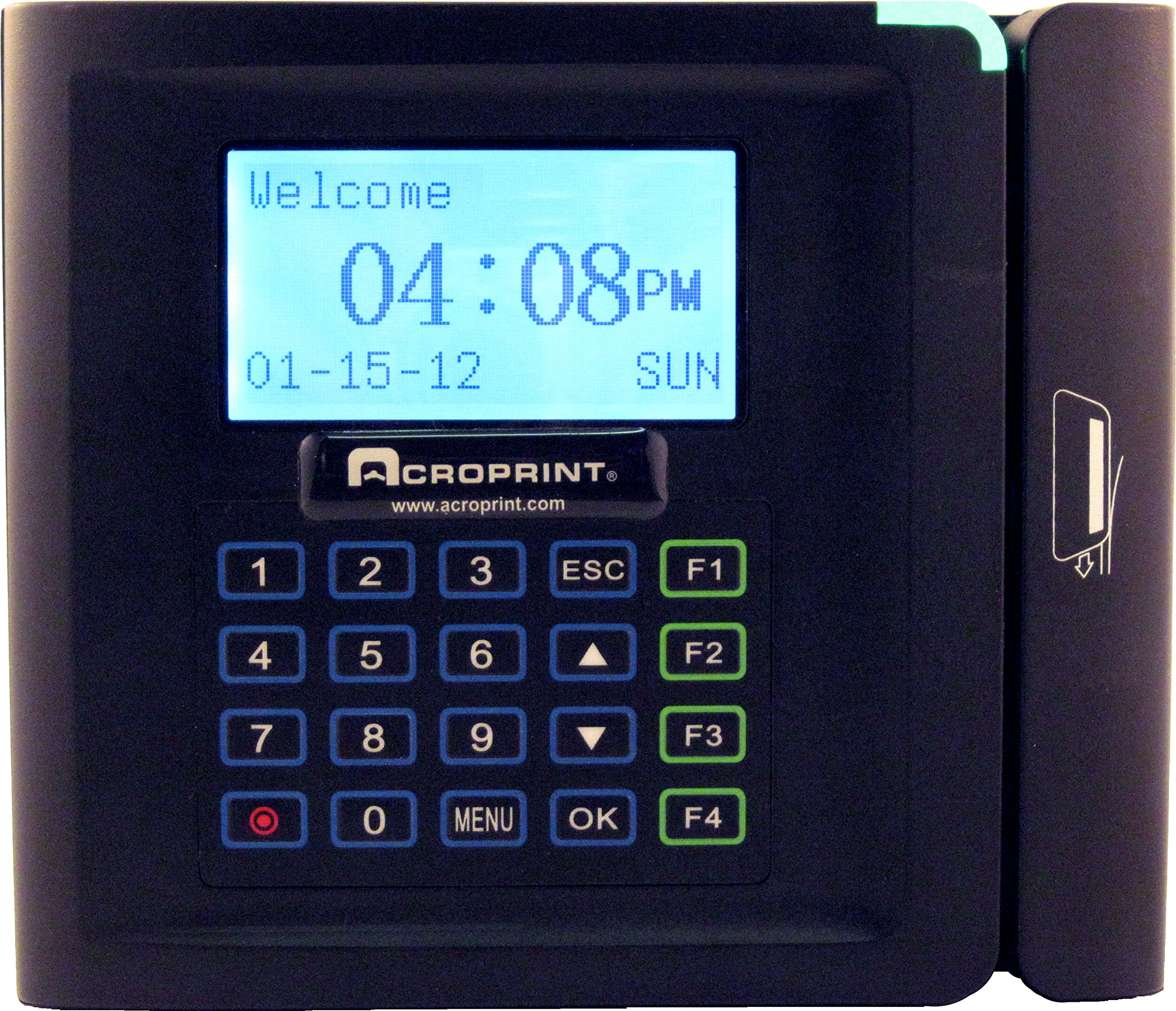 Acroprint timeQplus Magnetic Stripe Time and Attendance System Time Clock