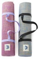 "Lottus Life Natural Jute Fiber Premium Yoga & Exercise Mat with Strap Extra Thick 8mm Mat - Eco-Friendly - Extra Long 72"" - Unique Designer Colors – Memory Foam-Like"