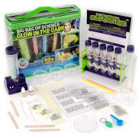 Big Bag of Glow In The Dark Science, For Kids 8-12 - Lab in A Bag of to Make Glowing Slime & 50+ Illuminating Experiments - STEM Science Chemistry Experiment Set - Gifting Idea for Boys & Girls