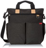 Skip Hop Messenger Diaper Bag with Matching Changing Pad, Duo Signature, Soft Slate