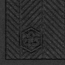 "M+A Matting 2241 Waterhog Fashion ECO Elite PET Polyester Entrance Indoor Floor Mat, SBR Rubber Backing, 6' Length x 4' Width, 3/8"" Thick, Black Smoke"
