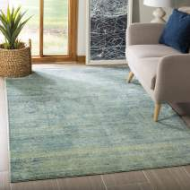 Safavieh Mystique Collection MYS920G Vintage Watercolor Overdyed Green and Multi Distressed Area Rug (4' x 6')