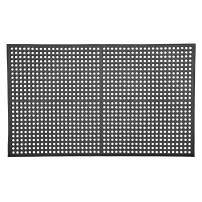 """AmazonCommercial Anti-Fatigue Drainage Mat, Rubber with Grit for Enhanced Traction, 3' X 5', 1/2"""" Thickness, Black General-Purpose"""