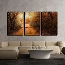 "wall26 - 3 Piece Canvas Wall Art - Surreal Colors of Fantasy Landscape at Tropical Jungle Forest - Modern Home Decor Stretched and Framed Ready to Hang - 16""x24""x3 Panels"