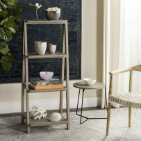 "Safavieh Home Collection Deitria Retro Scandinavian Three Tier Shelf, 49"", Light Oak/Brown"