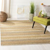 """Safavieh Organica Collection ORG411A Hand-Knotted Multicolored Wool Area Rug (7'6"""" x 9'6"""")"""
