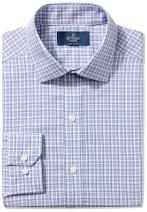 "BUTTONED DOWN Men's Fitted Spread-Collar Non-Iron Dress Shirt, Blue/Purple/Pink Check, 20"" Neck 37"" Sleeve (Big and Tall)"
