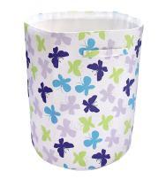NoJo Beautiful Butterfly Nursery Hamper, Purple/Lavender/Aqua/Green