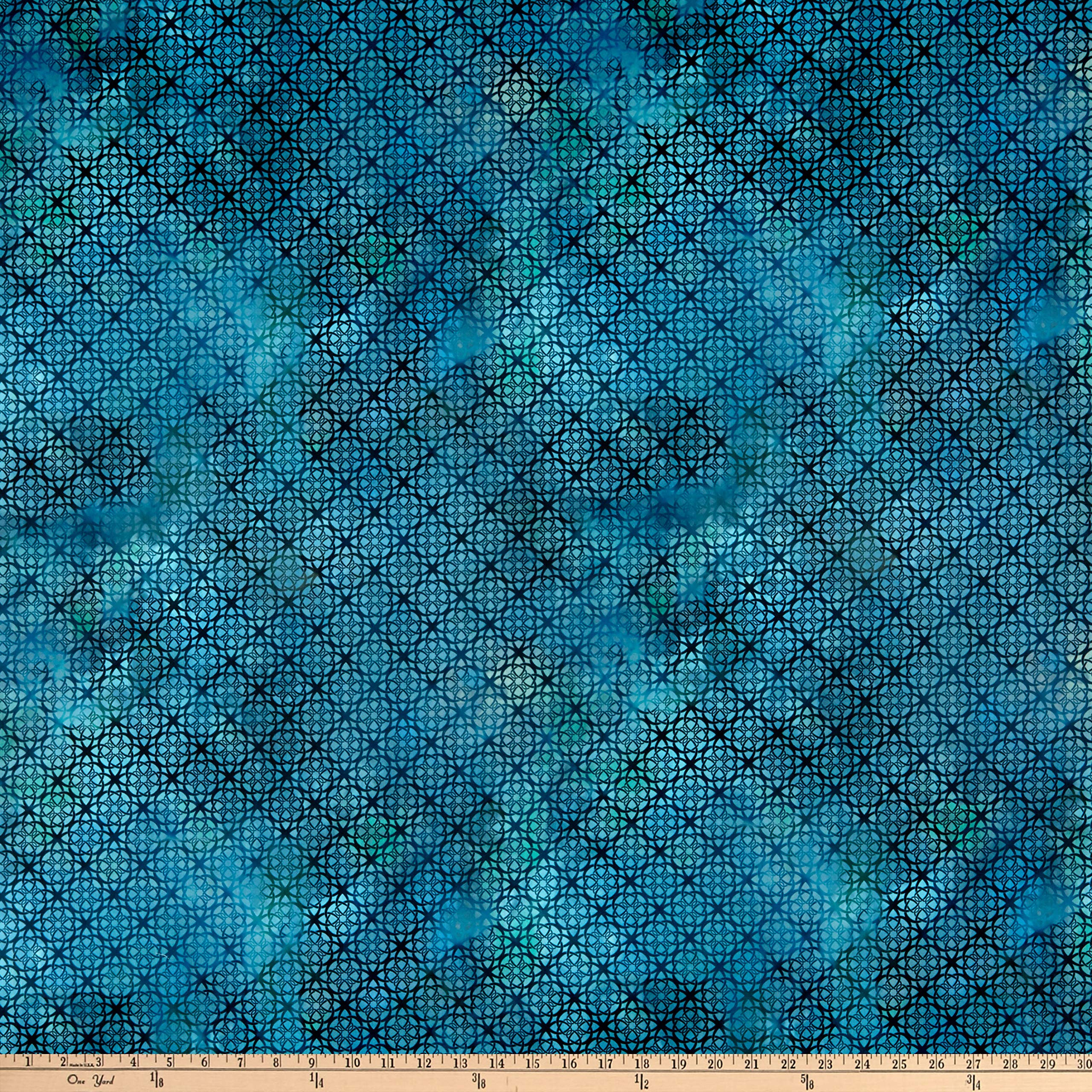 In The Beginning Fabrics In The Beginning s Diaphanous By Jason Yenter Trellis Turquoise, Fabric by the Yard