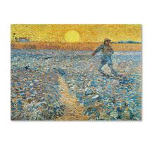 Sower 1888 Artwork by Vincent van Gogh, 18 by 24-Inch Canvas Wall Art