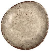 Melange 6-Piece 100% Melamine Salad Plate Set (Rustic Egg Collection) | Shatter-Proof and Chip-Resistant Melamine Salad Plates | Color: Cement