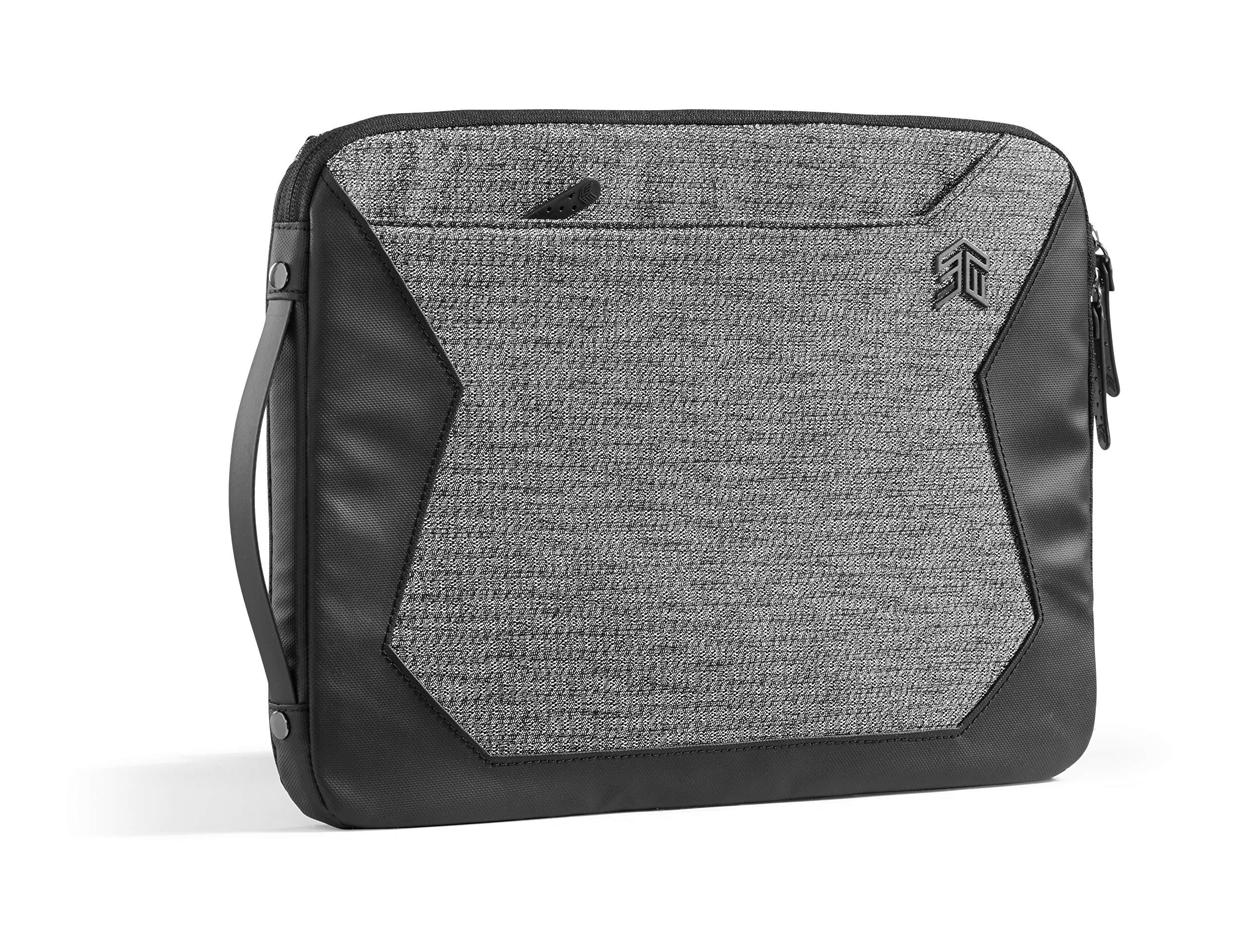 """STM Myth Fleece-Lined Laptop Sleeve with Removable Strap 13"""" - Granite Black (stm-114-184M-01)"""