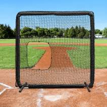 Fortress Pro Softball Pitching Screen | 7Fft x 7ft | Heavy-Duty Net | Galvanized Steel Frame