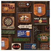 Thirstystone 4-Piece Game Room Round Coaster Set