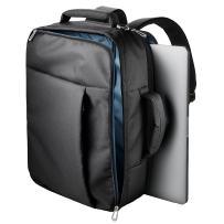 ELECOM PC Business Carrying Bag 3 Way Model, Shoulder, Briefcase, and Backpack, Water Repellent/Black/BM-SN03BK