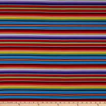Blank Quilting Fiesta Serape Stripe Orange, Fabric by the Yard