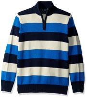 The Children's Place Big Boys' Stripe Mock Neck Sweater