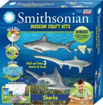 Smithsonian Sharks Perfect Cast Museum Cast, Paint, Display and Learn Craft Kit
