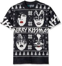 Liquid Blue Men's Kiss Merry Kissmas Tie Dye Short Sleeve T-Shirt