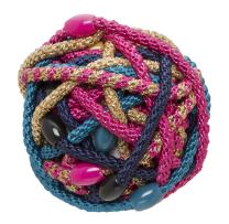 L. Erickson Narrow Grab & Go Pony Ball, Bombshell, Set of Thirty - Exceptionally Secure with Gentle Hold