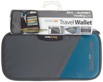 Sea to Summit Travelling Light Travel Wallet RFID, Pacific Blue, Large