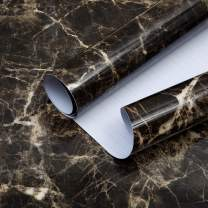 """Brown Marble Contact Paper for Countertops Kitchen Countertop Peel and Stick Wallpaper for Bedroom Laminate Countertop Sheets Marble Sticker Countertop Kitchen Oil Proof Waterproof Sticker 15.7""""x80"""""""