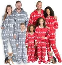 SleepytimePJs Matching Family Christmas Pajama Sets, Snowflake Footed Onesies