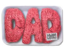 American Greetings Funny Father's Day Card (Ground Beef)