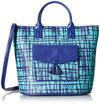 Vera Bradley Faux Leather Tassel Tote Bag