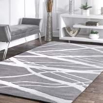 """nuLOOM Warren Contemporary Area Rug, 8' 3"""" x 11', Grey"""