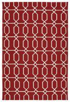 Kaleen Rugs Escape Indoor/Outdoor Rug, Red, 9' x 12'