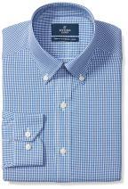 Amazon Brand - Buttoned Down Men's Tailored Fit Button Collar Pattern Dress Shirt