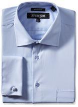 STACY ADAMS Men's Big-Tall Adjustable Collar Dress Shirt